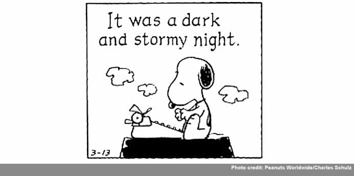 it was a dark and stormy night essay Check out our top free essays on dark stormy night essays to help you write your own essay.